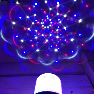 3Dトゥインクルプロジェクター ブルー ミラーボール イルミネーション ライト パーティーライト 回転 ディスコ ライト 照明|zakkayafree