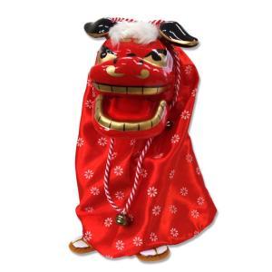 踊る獅子舞(レッド) 獅子舞 ダンシング 動く 踊る おもちゃ|zakkayafree