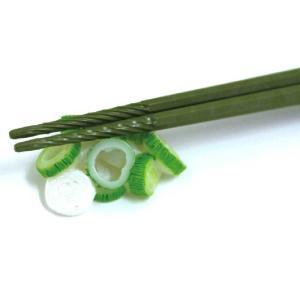 【あすつく】すべらせん箸(上)箸置きセット・ネギ 箸 すべらない ユニーク 箸置き おもしろ かわいい ラーメン|zakkayafree