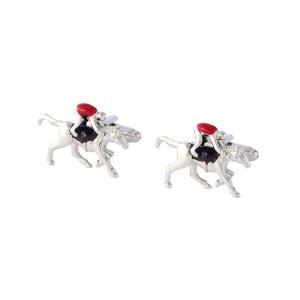 【あすつく】カフスボタン ジョッキー競走馬 カフスボタン メンズ ユニーク プレゼント zakkayafree