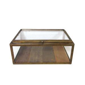 GLASS COLLECTION BOX A.GOLD コレクションケース コレクションボックス ディスプレイケース アンティーク ガラス ショーケース 木製 ダルトン DULTON|zakkayafree