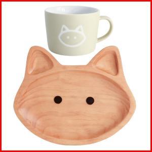 プチママン キャット ネコ お食事セット ウッドトレイ マグカップ セット 子供 キッズ プレゼント ギフト 出産祝い|zakkayafree