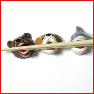 おもしろ箸置き3個セット(動物) 箸置き おもしろ プレゼント おもしろプレゼント おもしろグッズ おもしろ雑貨 面白|zakkayafree