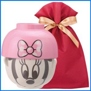 ディズニー汁椀茶碗(ミニ) ギフトセット ミニーマウス【L】【F】 茶碗 お椀 子供 ディズニー ごはん茶碗 食器セット プレゼント zakkayafree