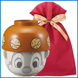 ディズニー汁椀茶碗(ミニ) ギフトセット デール【L】【F】 茶碗 お椀 子供 ディズニー ごはん茶碗 食器セット プレゼント zakkayafree