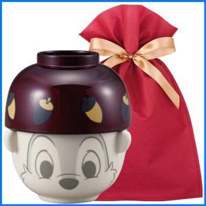 ディズニー汁椀茶碗(ミニ) ギフトセット チップ【L】【F】 茶碗 お椀 子供 ディズニー ごはん茶碗 食器セット プレゼント zakkayafree