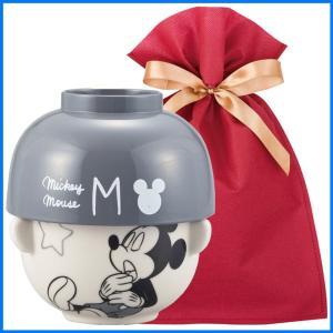 ディズニー汁椀茶碗(ミニ) ギフトセット おやすみ ミッキーマウス【L】【F】 茶碗 お椀 子供 ディズニー ごはん茶碗 食器セット プレゼント zakkayafree