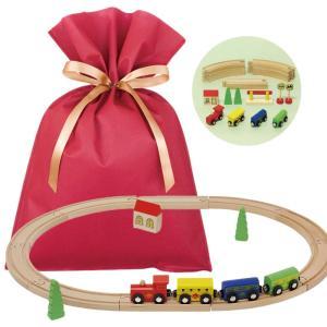 送料無料 ウッデントイ トレイン ギフトセット【L】 木製 電車 おもちゃ 木のおもちゃ 知育 木製玩具 プレゼント 雑貨 ラッピング|zakkayafree