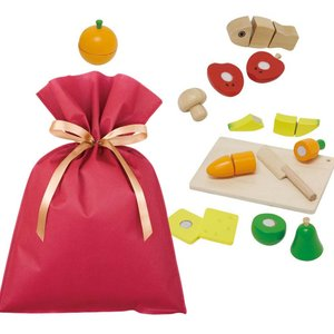 送料無料 ウッデントイ ちいさなコックサン ギフトセット【L】 木のおもちゃ ままごと 女の子 知育 木製玩具 プレゼント 雑貨 ラッピング|zakkayafree