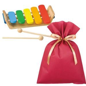 送料無料 ウッテ゛ントイ カラフルもっきん ギフトセット【L】 木琴 おもちゃ 木のおもちゃ 楽器 知育 木製玩具 プレゼント 雑貨 ラッピング|zakkayafree