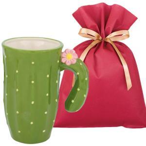 送料無料 サボテンマグ ギフトセット【L】 マグカップ 大きい おしゃれ かわいい サボテン オブジェ プレゼント|zakkayafree