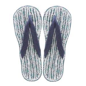 コットンサンダル ヴィスタ (メンズ)ネイビー 布草履 スリッパ 室内履き 布ぞうり 布わらじ おし...