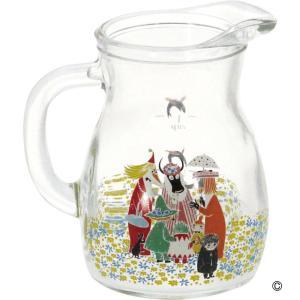 MOOMIN クッカ・ピッチャー(S) クニット ムーミン ピッチャー ガラス おしゃれ 麦茶ポット 水差し お茶ポット 冷水筒 zakkayafree
