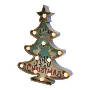 クリスマス LED ツリー サインボード ブルー クリスマスツリー led 卓上 クリスマス 飾り イルミネーション|zakkayafree