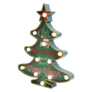 クリスマス LED ツリー サインボード グリーン クリスマスツリー led 卓上 クリスマス 飾り イルミネーション|zakkayafree
