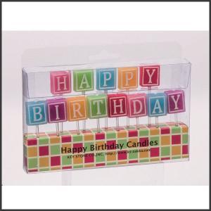 バースデーケーキのろうそくに。  HAPPY BIRTHDAY のアルファベットキャンドルが入ってい...