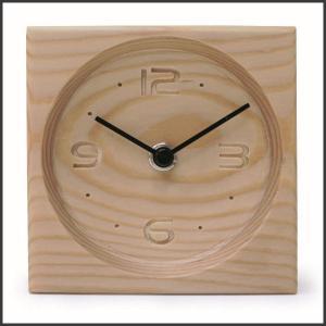 時計 置時計 おしゃれ 木製 森の時計 スクエア ナチュラル