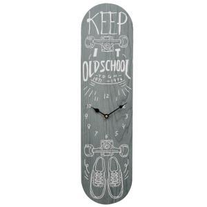 【あすつく】オールドルッククロック スケートボード ブルー 掛け時計 アンティ―ク 時計 レトロ おしゃれ アメリカン雑貨 スケボー zakkayafree