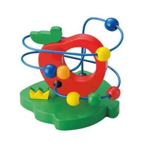 ウッデントイ ビーズコースター リンゴ 木 おもちゃ 木のおもちゃ 知育玩具 木製 おもちゃ|zakkayafree