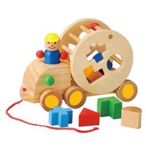 ウッデントイ パズルトラック 木 おもちゃ 木のおもちゃ 知育玩具 木製 おもちゃ|zakkayafree