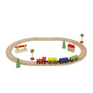 ウッデントイ トレインセット 木のおもちゃ 車 電車 木製玩具 知育玩具|zakkayafree
