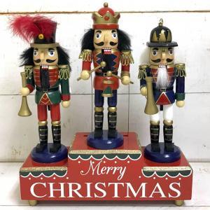 【あすつく】ナッツクラッカーオブジェ オルゴール クリスマス 飾り オルゴール クリスマスツリー クリスマス置物 オブジェ オーナメント|zakkayafree