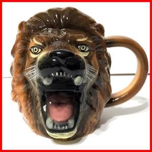 ライオンのマグカップ おもしろ 雑貨 おもしろ プレゼント マグカップ 面白 おもしろグッズ|zakkayafree