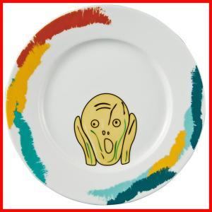 フェイスディッシュ ムンクの叫び おもしろ プレゼント ランチプレート 陶器 パスタ皿 パスタプレート 皿 白|zakkayafree