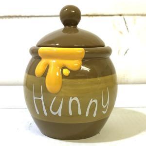 【あすつく】ハニーポット くまのプーさん 調味料入れ 陶器 砂糖 塩 キャニスター 保存容器 ハニーポット はちみつ 容器|zakkayafree