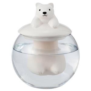 ドーム型加湿器 シロクマ 加湿器 気化式 かわいい おしゃれ 卓上 エコ 電源不要