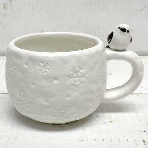 フィギュア付きマグ シマエナガ シマエナガ 鳥 グッズ マグカップ コーヒーカップ ティーカップ かわいい|zakkayafree