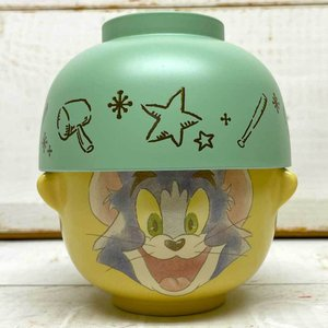 汁椀茶碗セット ミニ(トム) トムとジェリー グッズ 雑貨 茶碗 お椀 セット 子供 食器セット ご飯茶碗 小さい|zakkayafree