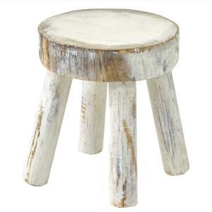 (2)カービングウッド ディスプレイ ミニスタンド ホワイト フラワースタンド 木製 白 ホワイト アンティーク 屋外 室内 おしゃれ 花台 zakkayafree