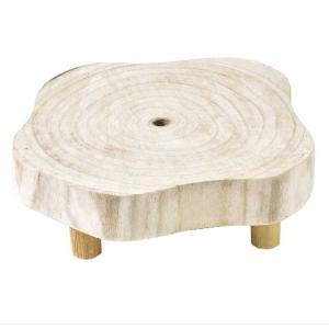 カービングウッド ディスプレイ ロースタンド ホワイト フラワースタンド 木製 白 ホワイト アンティーク 屋外 室内 おしゃれ 花台 zakkayafree