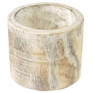 (2)カービングウッド ポット ホワイト プランター プランターカバー 木製 植木鉢 おしゃれ zakkayafree