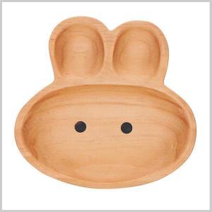 キッズプレート トレイ 木製 子供用 皿 食器プチママントレイ ラビット|zakkayafree