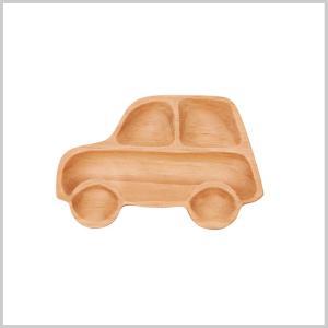 キッズプレート トレイ 木製 子供用 皿 食器プチママン プチトレイ カー|zakkayafree