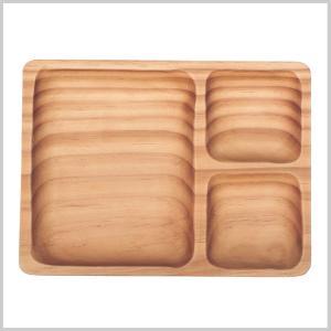 トレイ 木製 トレー プレート 皿 北欧PAN MAISON LUNCH WOOD TRAY|zakkayafree