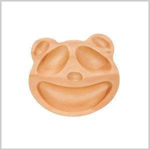 キッズプレート トレイ 木製 子供用 皿 食器プチママン プチトレイ パンダ|zakkayafree