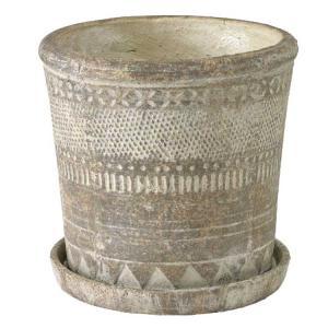 (2)オリンポス プランター Lサイズ 植木鉢 テラコッタ 鉢 おしゃれ アンティーク zakkayafree