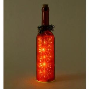 SPICE クリスマス スノーフレークLEDボトル レッド イルミネーション ライト ランプ クリスマス 装飾 かわいい おしゃれ プレゼント インテリア小物 飾り|zakkayafree
