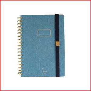 表紙がデニム生地のゴムバンド付きノート  本物のデニム布地を使用しています。  本物だからこそ使い込...