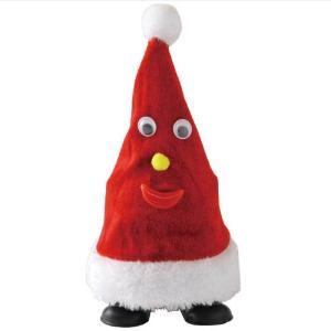 FUNNYクリスマス ミュージック ウォーキングサンタハット ダンシング サンタ ぬいぐるみ サンタクロース 踊る 人形 パーティー イベント クリスマス用品|zakkayafree