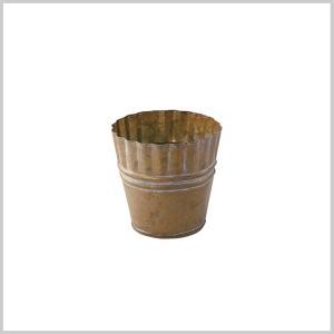 鉢 プランター ポット 鉢カバー マドレーヌ ラウンド ブリキ アンティーク カバー おしゃれ かわいい MADELEINE ROUND POT Sサイズ|zakkayafree