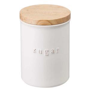 陶器キャニスター トスカ シュガー ホワイト キャニスター シュガーポット 調味料入れ 陶器 砂糖入れ おしゃれ zakkayafree