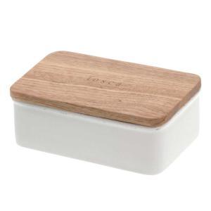 【あすつく】バターケース トスカ ホワイト バターケース 陶器 おしゃれ バター 保存容器 zakkayafree