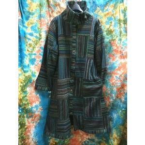 エスニックコート 裏フリースコート ネパール ロングコート アジアンファッション メンズ レディース 冬アウター|zakkayakaeru