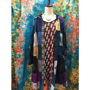 パッチワークが可愛い!エスニックコート アジアンファッション レディース エスニックファッション ワンピース|zakkayakaeru