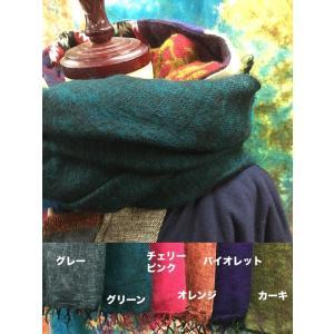 大判ストール 冬ストール エスニック アジアン レディース メンズ 6色 グレー グリーン チェリーピンク オレンジ バイオレット カーキ アクリル マフラー|zakkayakaeru