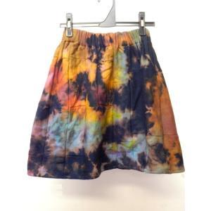 PWタイダイ染めminiスカートA ポケットあり パンツに重ね着も 冷え性解消に パッチワーク エスニック ミニスカート zakkayakaeru